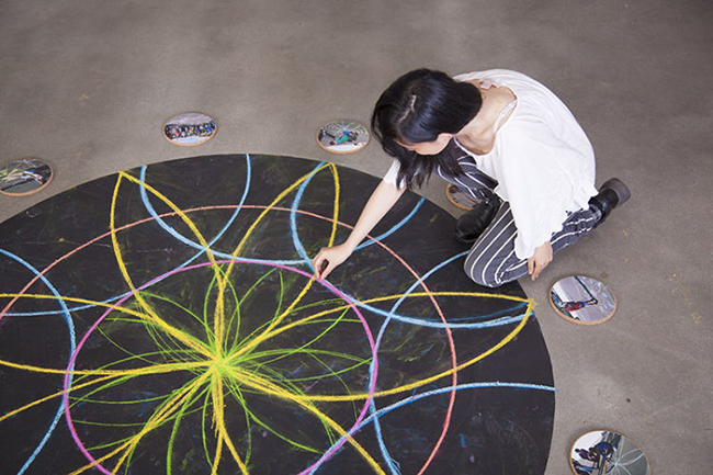 Mandala Math Chalk Circles