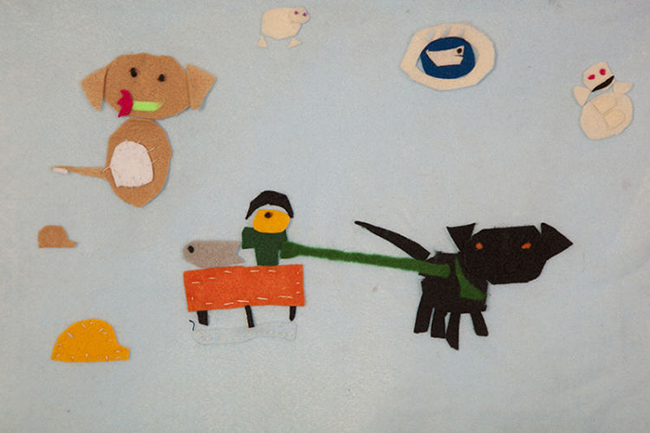 Inuit Felt Collages
